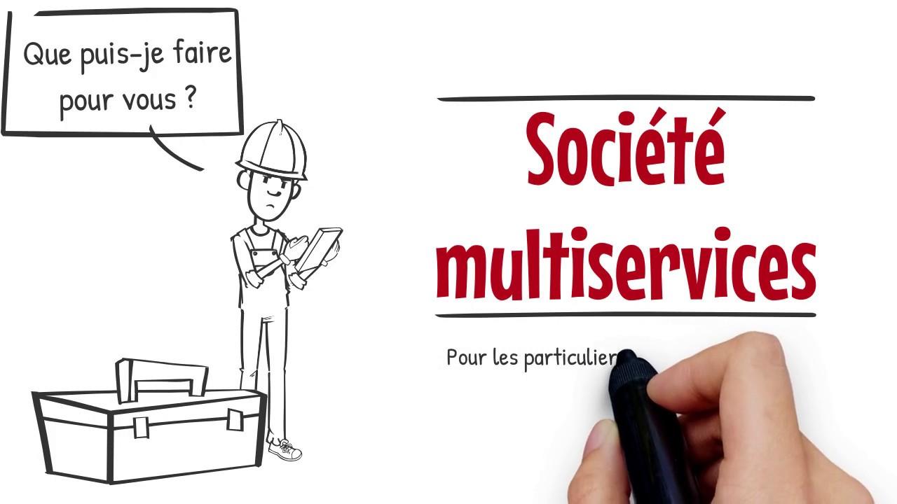 Carte De Visite Societe Multiservices Par Foad Spirit