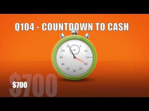 Q104 Countdown to cash practice version #3