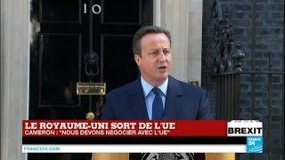 Brexit : Le premier ministre David Cameron annonce son intention de démissionner