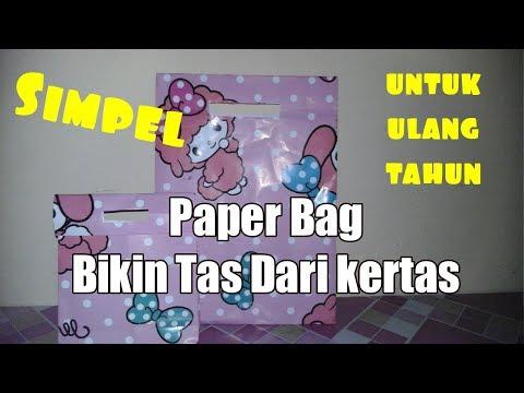 Cara membuat TAS dari kertas kado | Paper Bag
