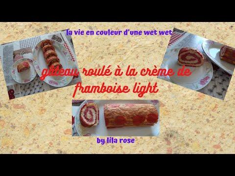 gâteau-roulé-crème-de-framboise