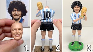 Remembering Diego Maradona, polỳmer clay sculpture of Argentine football legend【Clay Artisan JAY】