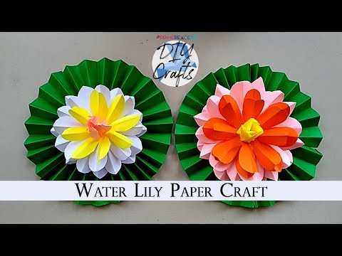 Water Lily Paper DIY Craft