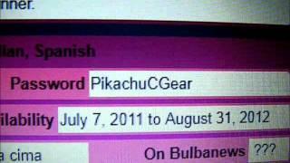 [OLD] Pokemon Black/White Pikachu C-Gear Skin Password