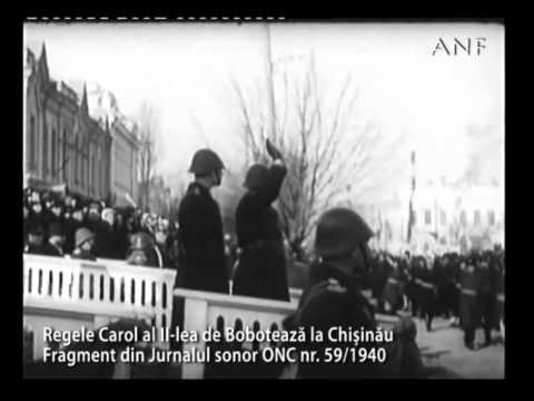 Regele Carol al II-lea de Bobotează la Chişinău. 1940