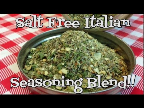 Homemade Salt Free Italian Seasoning Blend Recipe ~ Italian Seasoning Recipe ~  Noreen's Kitchen