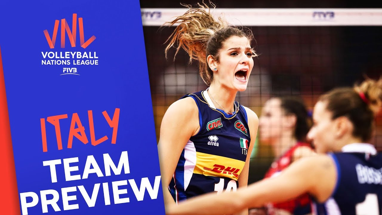 Italy Women Team Preview Volleyball Nations League 2019 Youtube