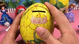 Giant eggs and surprisingly fun inside, baby toys