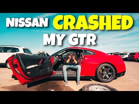 NISSAN DEALERSHIP CRASHED MY GTR...