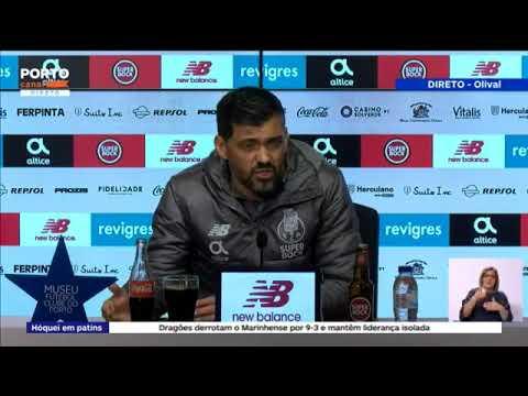 Antevisão de Sérgio Conceição da partida frente ao Braga (2ª mão da MF da Taça de Portugal)