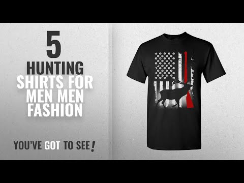 Top 10 Hunting Shirts For Men [Men Fashion Winter 2018 ]: Deer Antlers Gun Hunting American Flag