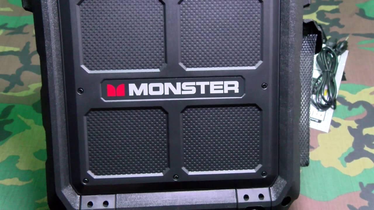 monster rockin u0027 roller 2 portable indoor outdoor wireless speaker
