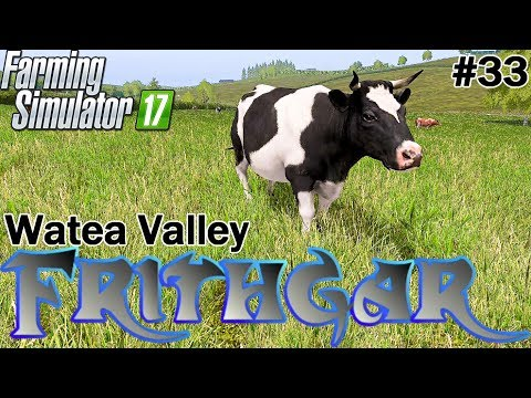Let's Play Farming Simulator 2017, Watea Valley #33: Our First Cows!