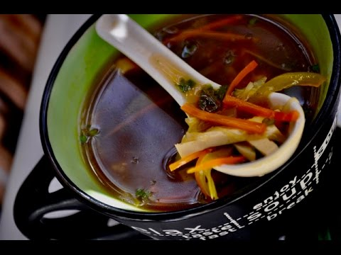 Restaurant Style Hot & Sour Vegetable Soup    Recipe no:65