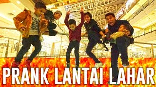 PRANK LANTAI LAHAR DI MALL - THE FLOOR IS LAVA CHALLENGE