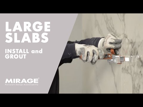 Large-size Slabs Tutorials #2 - How to install and grout large format tiles