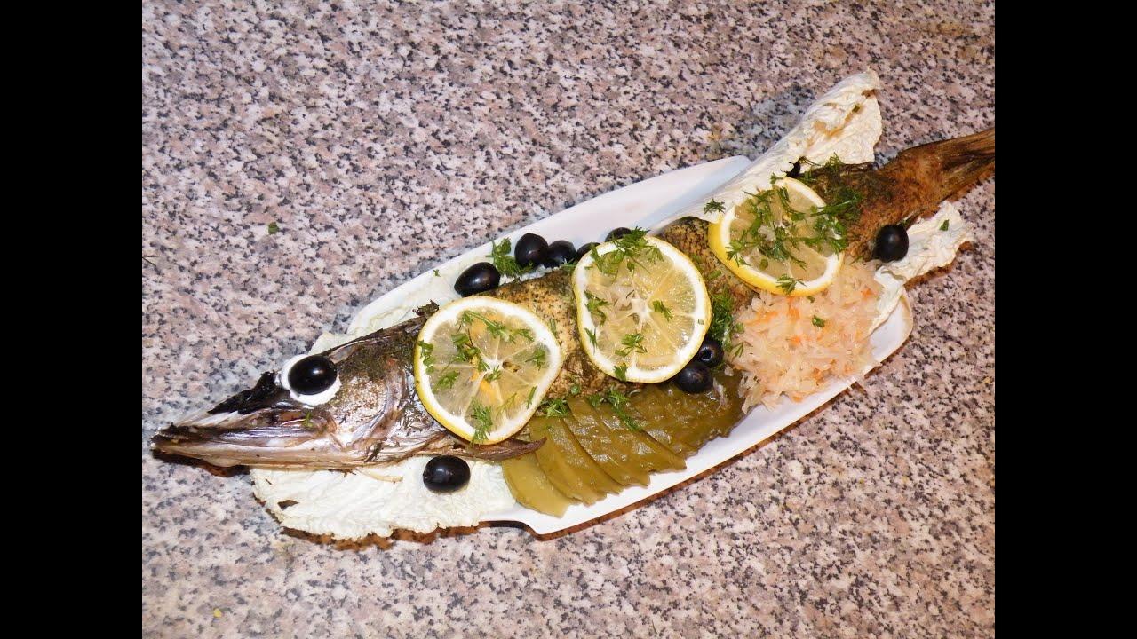 запеченная щука в фольге в духовке рецепт с фото