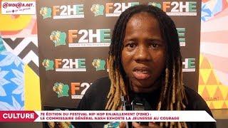 7e édition du Festival Hip Hop Enjaillement : Nash exhorte la jeunesse au courage