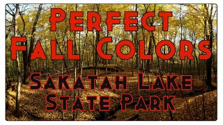 PERFECT Fall Colors While Hiking At Sakatah Lake State Park