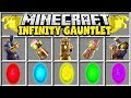 Minecraft INFINITY GAUNTLET MOD | CRAFT THE INFINITY GAUNTLET IN MINECRAFT!!