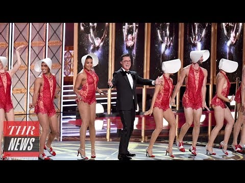 Download Youtube: Stephen Colbert Opens 2017 Emmy Awards With Musical Number, Trump Jokes, & Sean Spicer | THR News