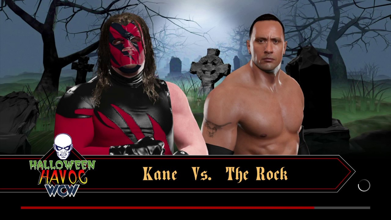 wwe 2k17 the rock vs kane halloween havoc - youtube
