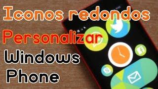Personalizacion de ICONOS CIRCULARES para Windows Phone y Windows 10 Mobile