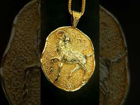18k Aries nZodiac Pendant by Secrète Fine Jewelry in Washington, DC, and Bethesda