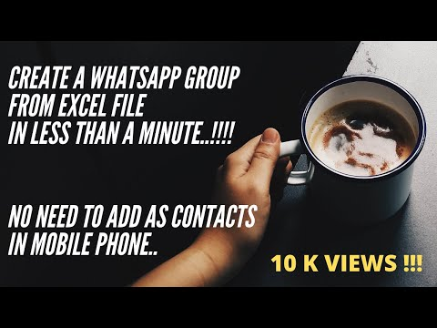 Whatsapp group from excel file || How to create group without adding as contacts (2020)