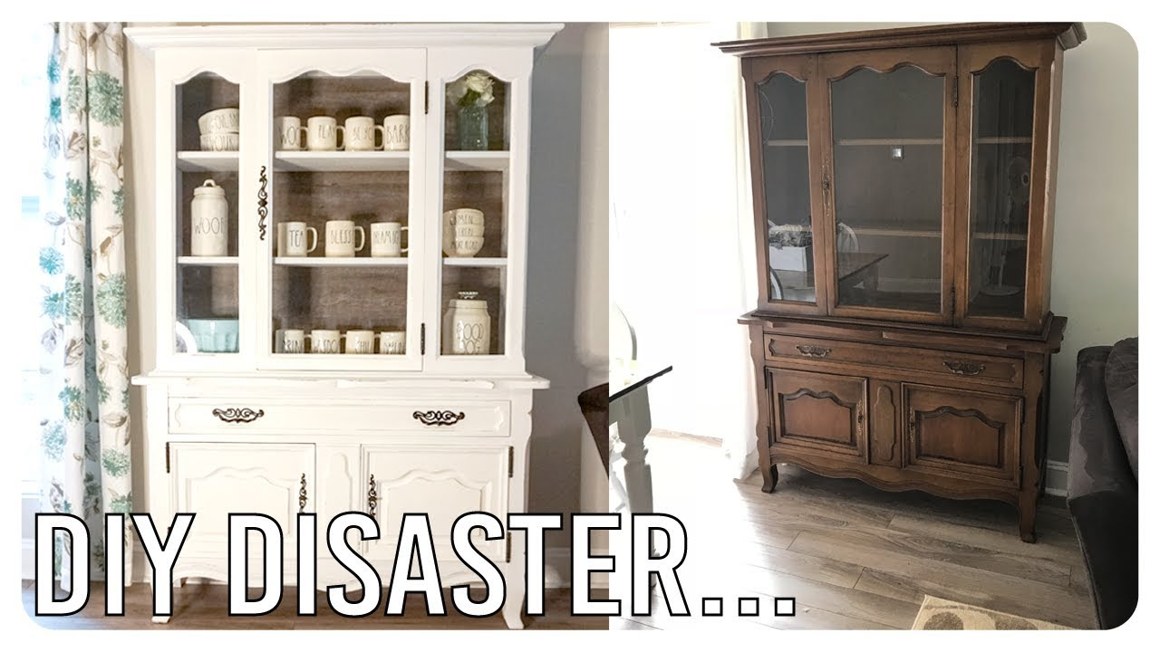 The Harrowing Tale Of A Disastrous Hutch Makeover Storytime Diy Project Youtube