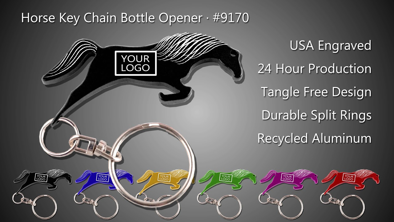 horse key chain bottle opener personalized youtube. Black Bedroom Furniture Sets. Home Design Ideas