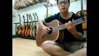 Hoa tím ngày xưa guitar cover