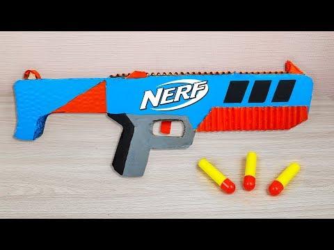 Nerf Gun from Cardboard - How to Make Nerf Cardboard Weapons