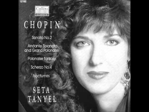 SETA TANYEL plays CHOPIN Piano Sonata No.2 (1990)
