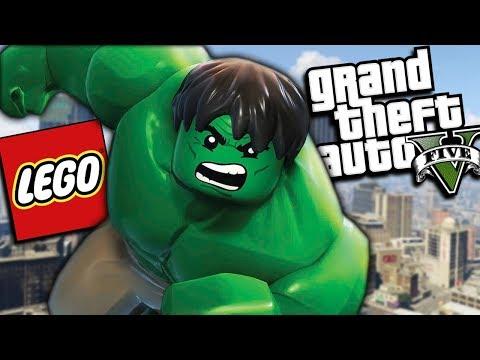 GTA 5 Mods - THE ULTIMATE LEGO HULK MOD (GTA 5 PC Mods Gameplay)