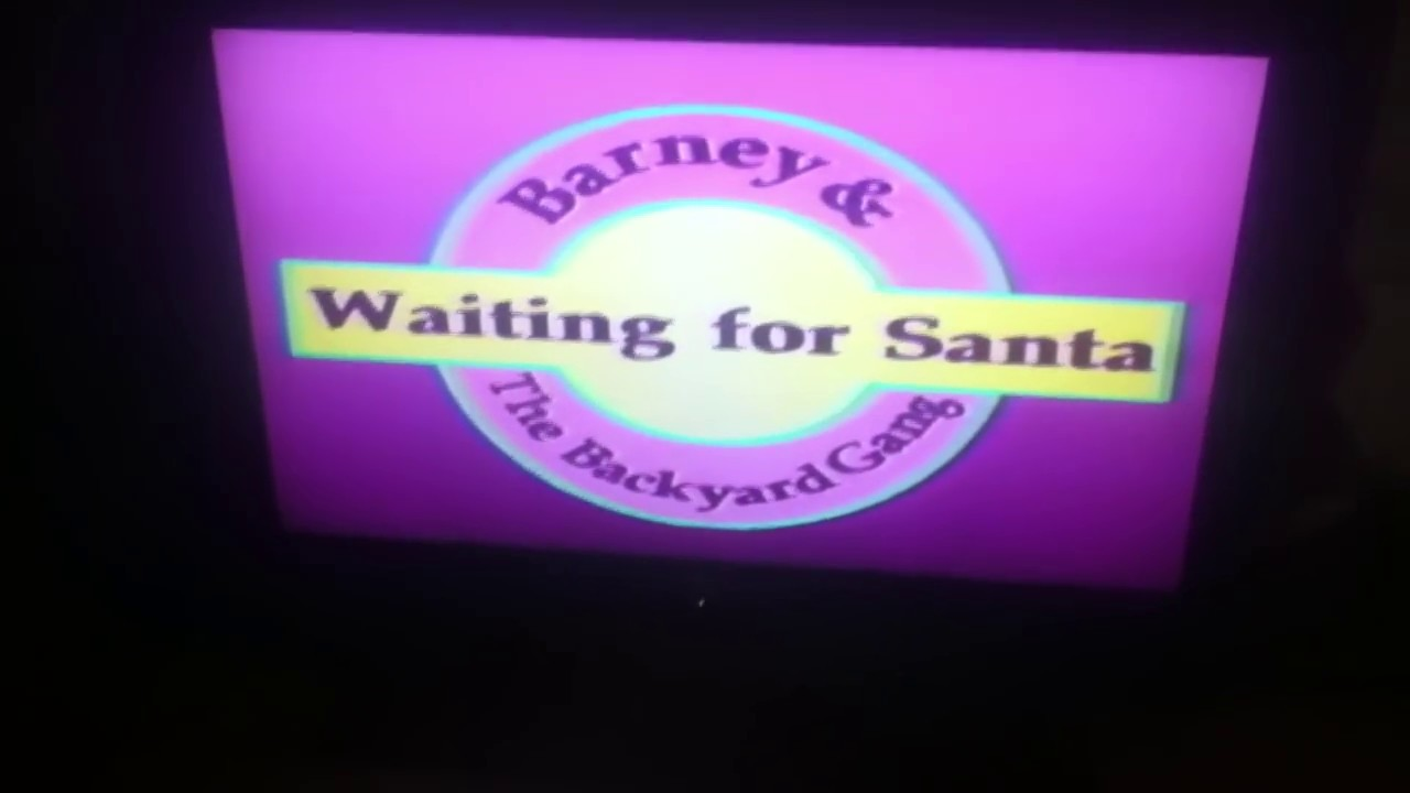 opening to barney waiting for santa 1991 vhs youtube
