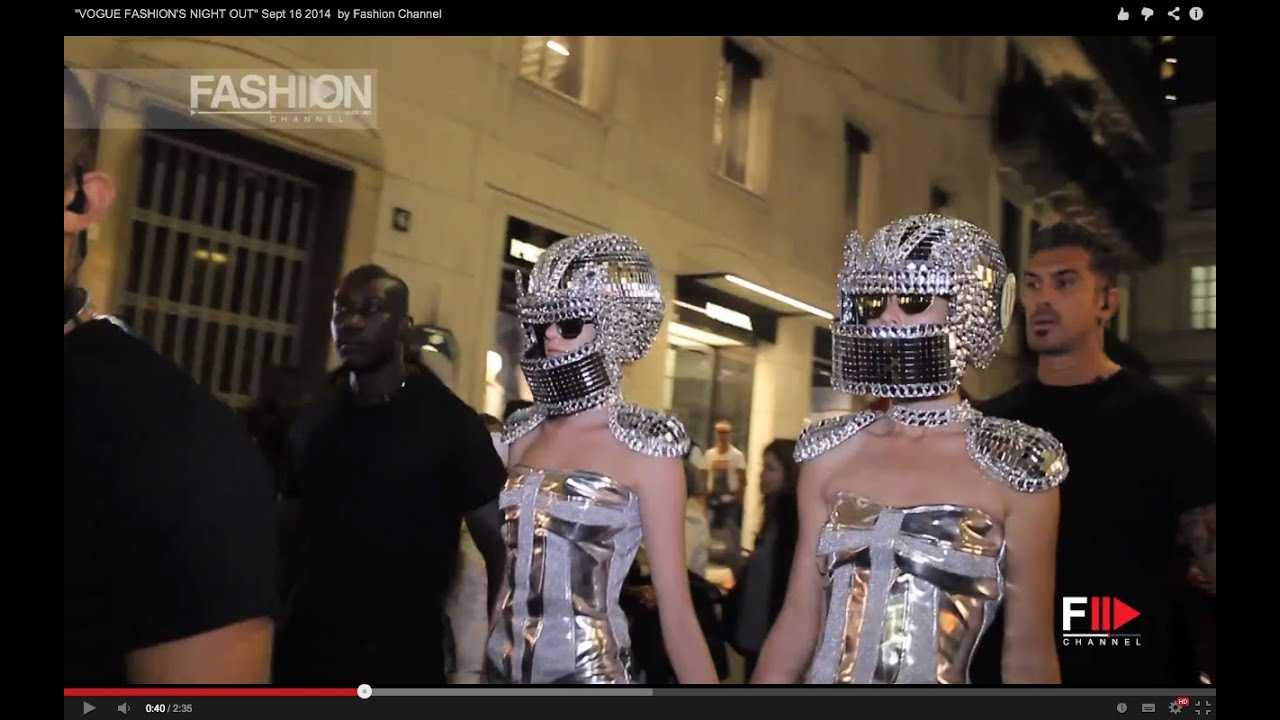 Vogue Fashion S Night Out Milano Sept 16 2014 By Fashion Channel
