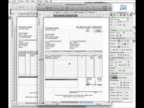 How To Use A Clothing Purchase Order Template Youtube