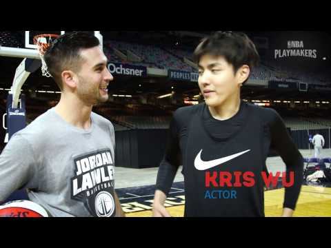 NBA All Star Celebrity Game Training Kris Wu
