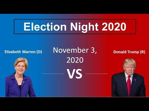 Election Night 2020 - Donald Trump vs Elizabeth Warren