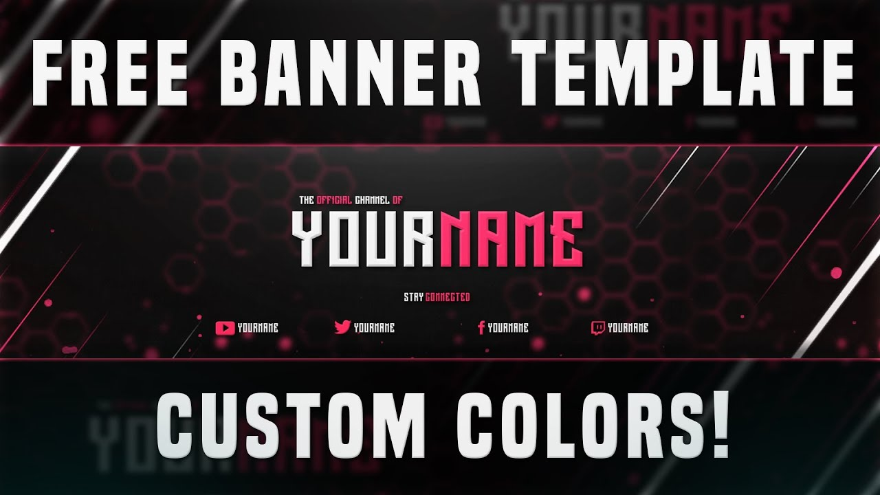 FREE YouTube Banner Template Photoshop 2016 | LINK IN DESCRIPTION #1 ...