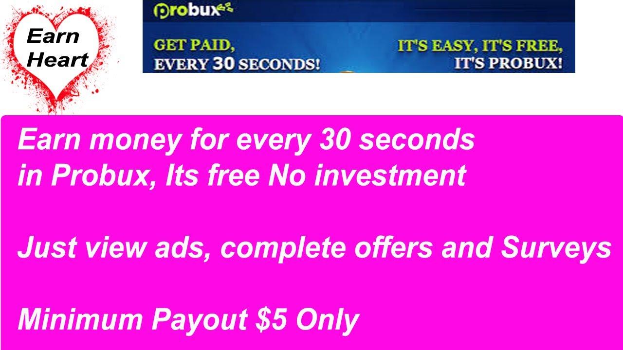 kaip udirbti pinigus internete per probux per dien kiek kriptografinių investicijų turi būti