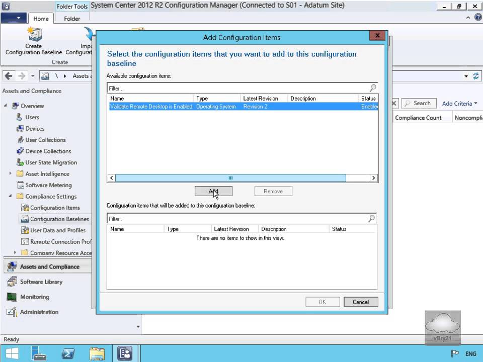 10747 Demo46 Creating And Deploying A Configuration Baseline