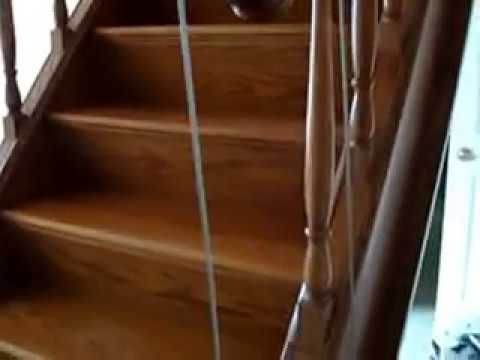 Disappearing staircase youtube Motorized attic stairs