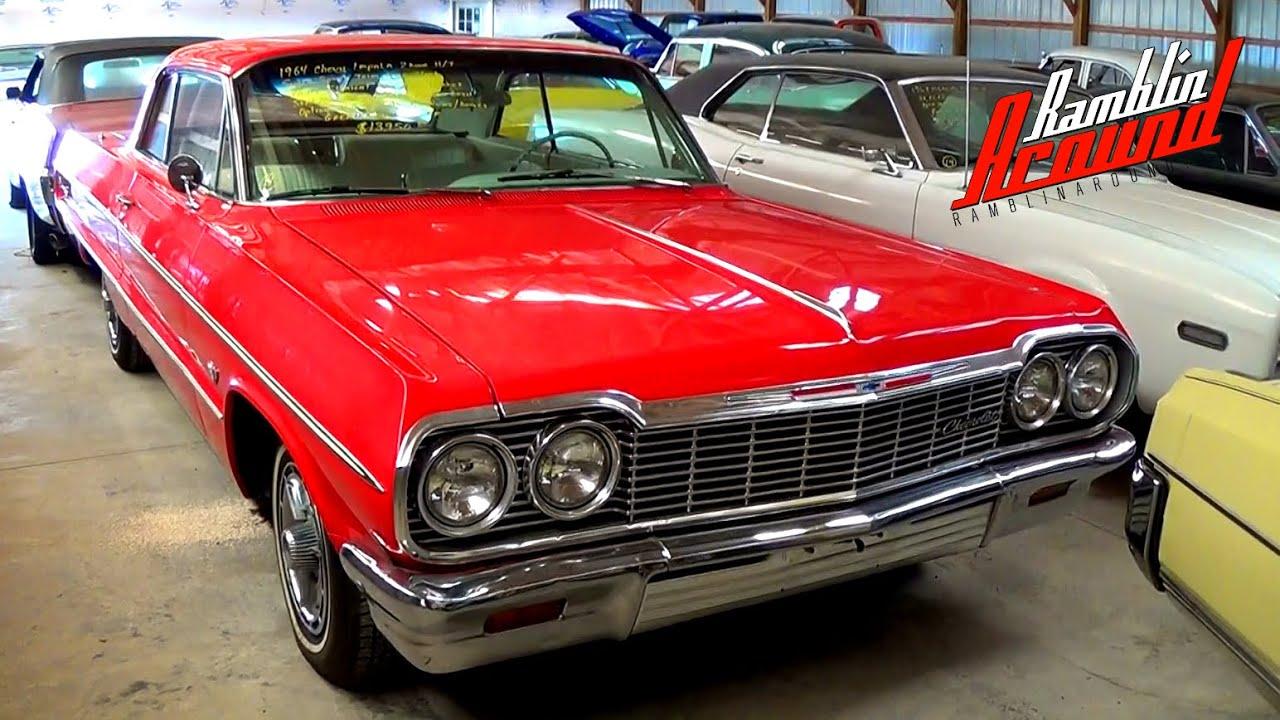 1964 Chevrolet Impala V8 SS trim Red - YouTube