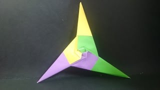摺紙 三角飛鏢 Origami Three Point Ninja Star