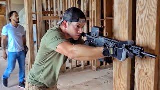 Выстрел из Barrett .50 BMG у себя дома! | Разрушительное ранчо | Перевод Zёбры