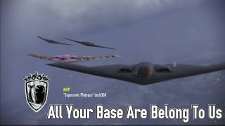 Ace Combat Infinity: B-2 Bomber Spirit Party on Avalon