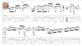 Polonaise - Michal Kleofas Oginski - Tab guitar solo classic