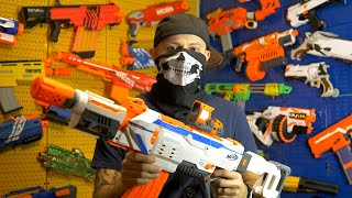 1 Hour of NERF GUN WAR!